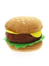 Hamburger Plush & Squeaky Dog Toy - This is one burger that is completely calorie free but still looks delicious, with its juicy burger, lettuce and slice of cheese it is just impossible to resist. For the complete meal deal team it up our juicy fries and milkshake toys.The harder your pup bites the more it squeaks and the more fun is...
