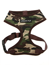 Camouflage Harness - If you have an action boy or girl this harness will be right up their street. It is lightweight and incredibly strong. Designed by Urban Pup to provide the ultimate in comfort and safety. It features a breathable material for maximum air circulation that helps prevent your dog overheating and is hel...
