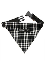 Black & White Tartan Bandana - Our Black and White Tartan Bandana is a traditional design which is stylish, classy and never goes out of fashion. Just attach your lead to the D-ring and this stylish Bandana can also be used as a collar. It is lightweight, incredibly strong, stylish and practical.