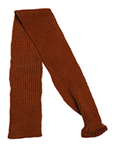 Brown Knitted Scarf - Our knitted scarves can be worn in a number of ways. One end of the scarf has an opening so that it can be worn like a tie. Or it can be simply tied around the neck. But whatever way it is worn it is guaranteed to create that casual look while keeping the neck and chest warm.