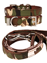 Camouflage Fabric Collar & Lead Set - If you have an action boy or girl this collar and lead set will be right up their street. It is lightweight and incredibly strong. The collar has been finished with chrome detailing including the eyelets and tip of the collar. A matching lead, harness and bandana are available to purchase separately...