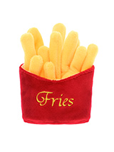 Fries Plush & Squeaky Dog Toy - Who doesn't like a portion of fries? For the complete meal deal team them up our juicy burger and milkshake toys. This classic American fast food toy will keep you dog amused for hours, maybe even long enough for you to eat yours before the begging starts. This toy will provide hours of fun for your...