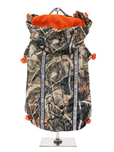 Wetlands Camouflage Rainstorm Rain Coat - Our new Wetlands Camouflage fleece lined Rainstorm Raincoat with detachable hood gives your dog two styles in one; when the hood is removed, it can be worn as a coat. The adjustable draw string on the hood and on the hem will allow you to get a nice tight fit to keep the body warm and dry and two hi...