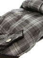 Brown Checked Parka with Detachable Hood