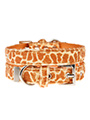 Giraffe Print Fabric Collar
