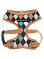 Brown & Blue Argyle Harness