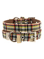 Brown Tartan Collar