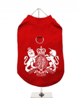 ''British Coat of Arms'' Harness-Lined Dog T-Shirt