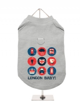 ''London Baby'' Harness-Lined Dog T-Shirt