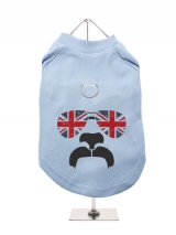 ''GB: Shades and Tash'' Harness-Lined Dog T-Shirt