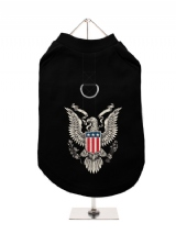 ''American Eagle'' Harness-Lined Dog T-Shirt
