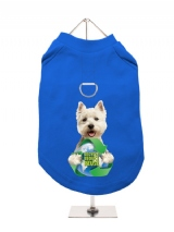 ''Recycle Reduce Reuse'' Harness-Lined Dog T-Shirt