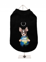 ''Stop Global Warming'' Harness-Lined Dog T-Shirt