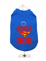 ''Super Dog'' Harness-Lined Dog T-Shirt